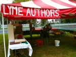 Lyme Authors tent at Lyme's 250th celebration - summer 2011