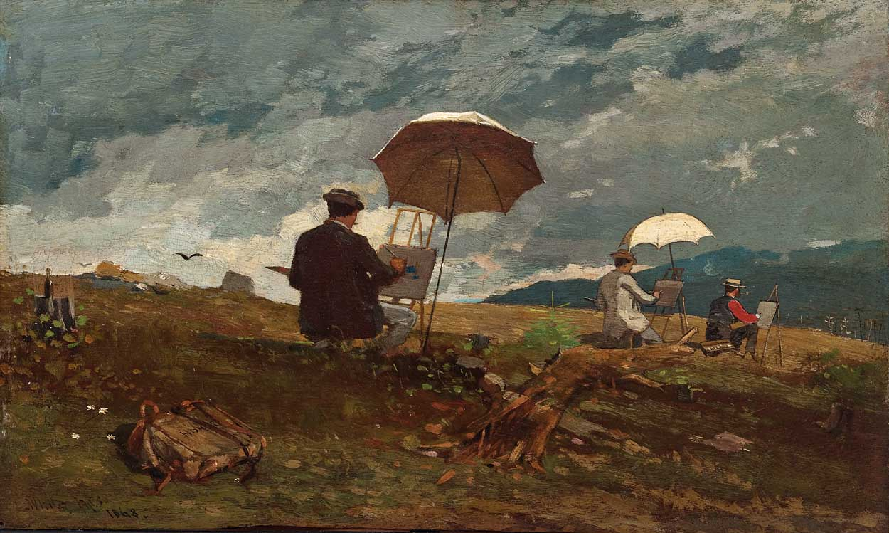 Artists Sketching in the White Mountains, by Winslow Homer